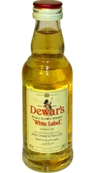 whisky Dewars 40% 50ml White Label miniatura