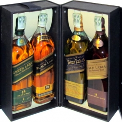 Johnnie Walker sada collection 4 druhy 0,2l whisky