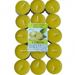 Vonné čajové svíčky 15ks Citrón Rentex
