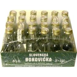 Borovička Slovenská 40% 40ml x24 Nicola miniatura