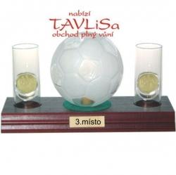 sklo Fotbal míč 0,35l odlivky me nápis 3.místo