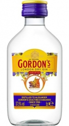 Gin Gordons London Dry 37,5% 50ml miniatura etik2