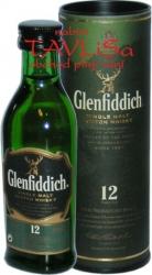 whisky Glenfiddich 40% 50ml 12y tuba miniatura