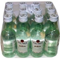 Rum Bacardi Carta Blanca 40% 50ml x12 miniatura