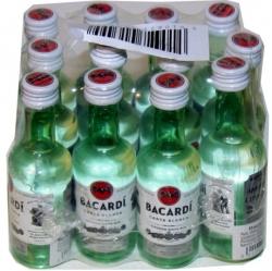 Rum Bacardi Carta Blanca 40% 50ml x12 obr2 mini
