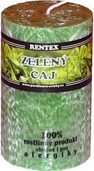svíčka válec Zelený čaj palmová 140g Rentex
