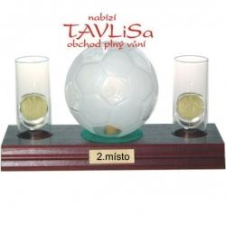 sklo Fotbal míč 0,35l odlivky me nápis 2.místo