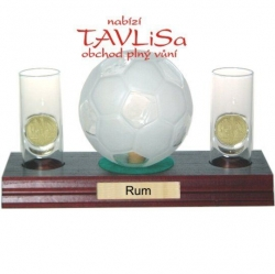 sklo Fotbal míč 0,35l odlivky me nápis Rum