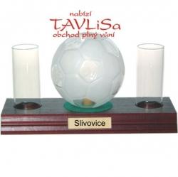sklo Fotbalový míč 0,35l odlivky nápis Slivovice