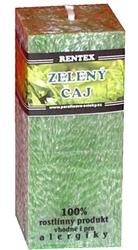 svíčka kvádr Zelený čaj palmová 180g Rentex