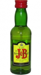 Whisky J&B 40% 50ml Scotland miniatura etik2