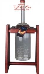 sklo Dřevěná houpačka s lahví 1,5l s lodí švestka