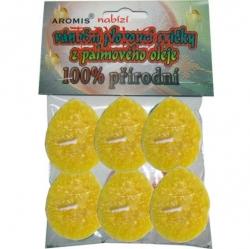 Svíčky plovoucí palmový olej 6ks žlutá Aromis