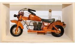 sklo Dřevěná motorka s cisternou 0,35l + přirodní