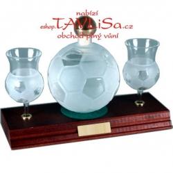 sklo Fotbalový míč 0,35 nápis Rožnov pod Radhoštěm