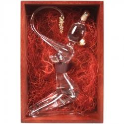 sklo Žena 0,2l zlacená - dřevěná bedýnka stříkaná
