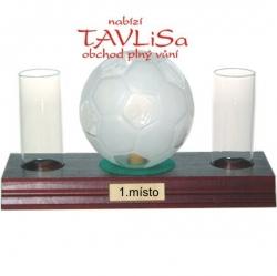 sklo Fotbalový míč 0,35l odlivky nápis 1.místo