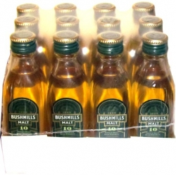 Whisky Bushmills 10 Years 40% 50ml x12 miniatura