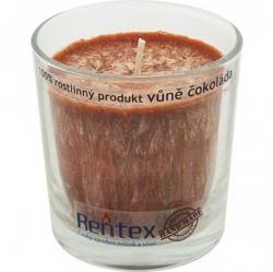 svíčka palmová ve skle čokoláda 370g Rentex