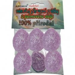 Svíčky plovoucí palmový olej 6ks fialová Aromis