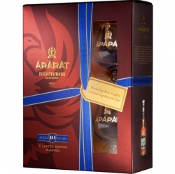 Brandy ARARAT 10 Years 40% 0,7l 2x Sklo Box
