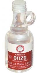 Arthina Ouzo Greece 38% 40ml miniatura