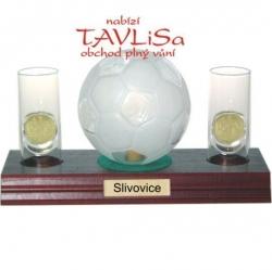 sklo Fotbal míč 0,35l odlivky me nápis Slivovice