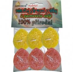 Svíčky plovoucí palmový olej 6ks* 2b zl+o Aromis