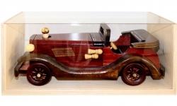 sklo Dřevěné Auto staré Kabriolet 0,2l + přírodní