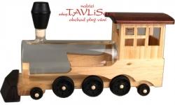 sklo Dřevo lokomotiva s cisternou 0,35l bedýnka