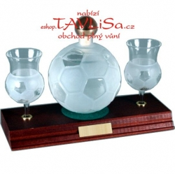 sklo Fotbalový míč 0,35 nápis Svatý Mikuláš