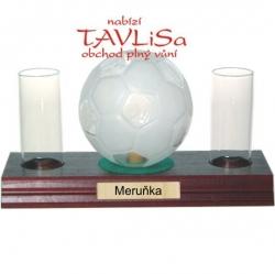sklo Fotbalový míč 0,35l odlivky nápis Meruňka