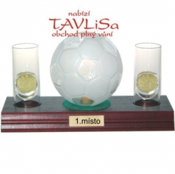 sklo Fotbal míč 0,35l odlivky me nápis 1.místo