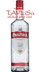 Vodka clear Pražská 37,5% 1l