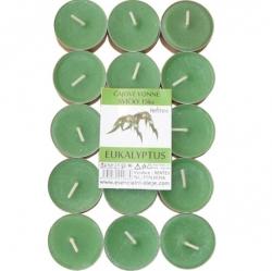 Vonné čajové svíčky 15ks Eukalyptus Rentex