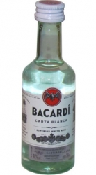 Rum Bacardi Carta Blanca 40% 50ml obr2 miniatura