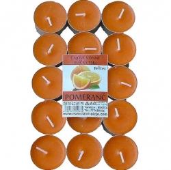 Vonné čajové svíčky 15ks Pomeranč Rentex