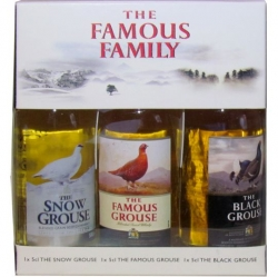 Whisky The Famous Family Sada 40% 50ml x3 miniatur