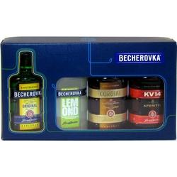 Becherovka Sada-4 50ml x4 Jan Becher miniatura
