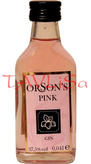 Gin Orsons Pink 37,5% 40ml v Sada Collection